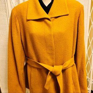 Jones NY amber gold boucle' belted jacket 20W